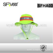 Sombrero de seguridad reflectante de alta visibilidad con 100% poliéster