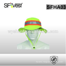 High visibility reflective safety knitted hat with 100% polyester