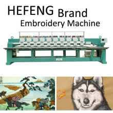 12 head high speed computerized flat embroidery machine