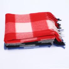 2017 venta caliente pashmina chales patrón de cuadros 100% Mongolia bufanda de cachemira