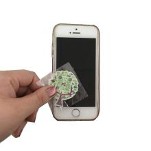 Limpador de tela do telefone móvel venda quente com cartão de papel impresso adesivo