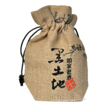 2013 New Natural Recycled Eco-Friendly Jute Wine Bag (hbjw-16)