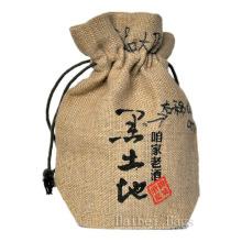 2013 Новый натуральный переработанный экологически чистый джутовый мешок для вина (hbjw-16)