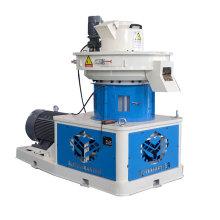 Vertically mounted ring die pellet mill