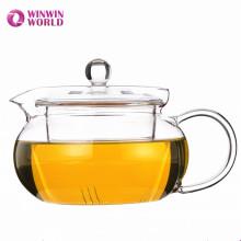 Heiße verkaufende Weihnachtsgeschenk-Großhandelsbrauen-Tee-Glas-Teekanne mit Infuser
