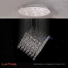 Luz pendiente cristalina de la venta caliente para la decoración interior, lámpara colgante de gota de agua LT-92026