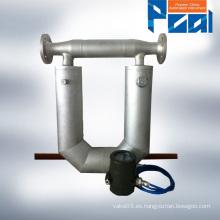 Medidor de flujo de masa / medidor de flujo acrílico Coriolis