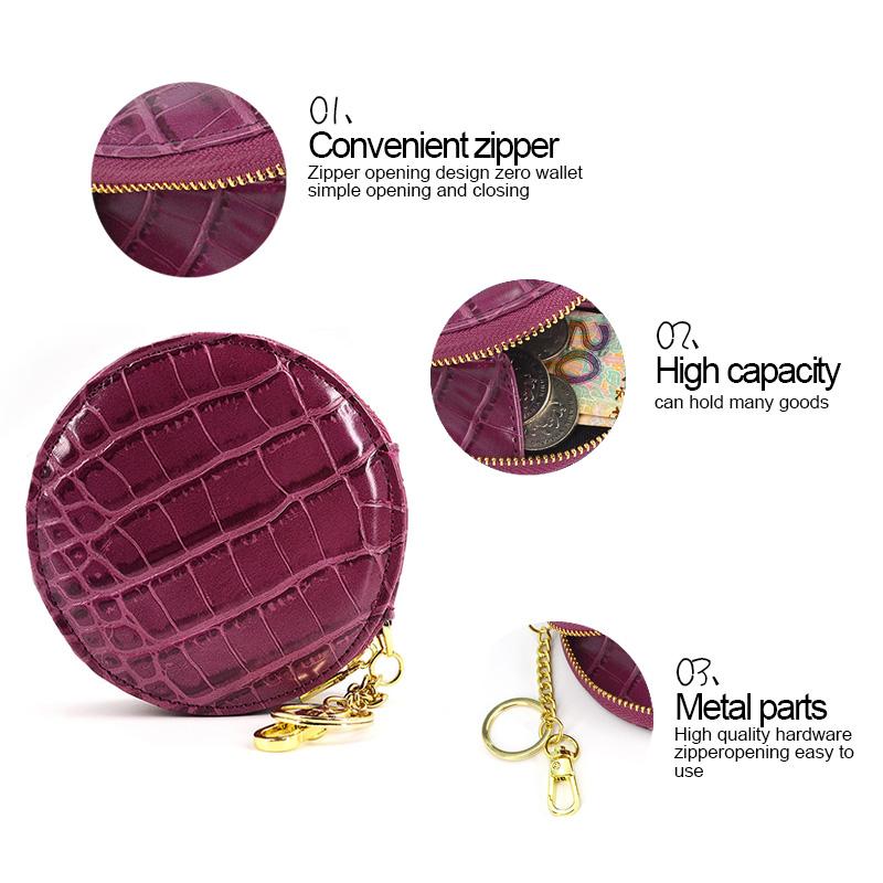 Custom Logo Coin Bag Small Leather Coin Purse