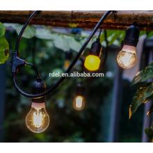 Patio-Dekoration beleuchtet 48 Feet-hängende Schnur-Beleuchtung mit 15 gefallenen Sockeln, 10-Feet Verlängerungsschnur SLT-172