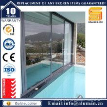 De Buena Calidad Puerta De Cristal Deslizante De Aluminio