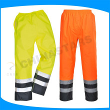 pu coating 300D oxford hi vis waterproof trousers