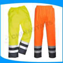 Pu revestimento 300D calças impermeáveis oxford olá vis