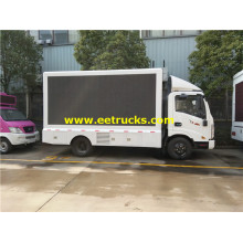 Camiones de publicidad de pantalla LED para exteriores P6