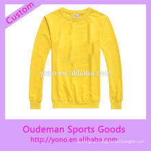 Primavera inverno personalizado esportes o-pescoço hoodies