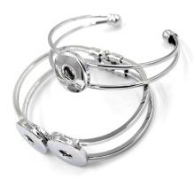 Bracelet à bouton-pression magnétique en argent brut de 63mm Silver Free