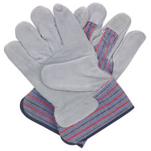Cow Leather Spilt Safety Working Gloves for Construction