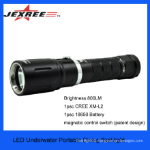 JEXREE Portable Rechargeable LED Diving Light