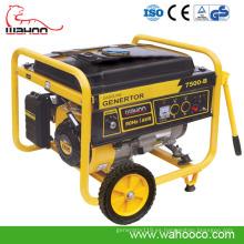 Generador portátil de la gasolina del poder de 6000 vatios con el CE, certificado de Soncap (WH7500-B)