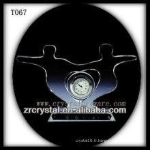 Magnifique horloge en cristal K9 T067