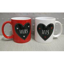 Regalo del Día de San Valentín, Taza del regalo del día de tarjeta del día de San Valentín. Taza del amante