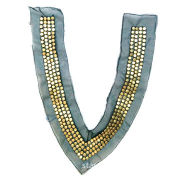 Black net manual nail beaded collar, used for garment accessories