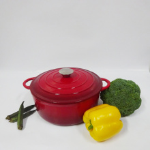Round Enameled Cast Iron Cooking Pots/Casserole/Cocotte