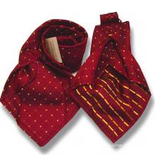 Mens 7 plis cravate en laine de soie mélangé à la main lames sept cravates en soie