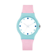 2021 hot sale plastic case silicone strap stainless steel back sports cheap watch
