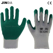 Knitted Yarn Shell Latex Coated Labor Protective Safety Work Gloves (LS007)