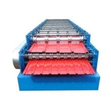 en remise Machine de formage de rouleaux de panneaux de toit à double couche