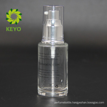 30ml empty clear face cream use clear cosmetic glass pump bottle