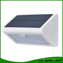 Luz de sensor de movimiento inalámbrico accionado solar al aire libre de 500 lúmenes