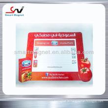 Placa de escrita de imitação magnética de refrigeração magnética de borracha de alta qualidade