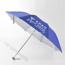 Beste Qualität Blau Silber beschichtet Baldachin 4 Falten Regenschirm (YS4F0010)
