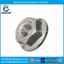 Em Stock DIN6923 SS304 / 316 Aço Inoxidável Hex Flange Nuts