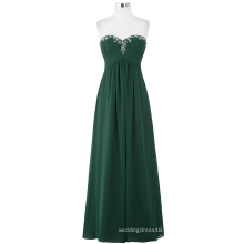 Starzz 2016 Ladies Full-Length Strapless Beaded Chiffon Green Long Evening Prom Dress ST000002-4
