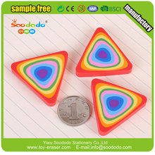 Colorful 2D flat rainbow shape eraser