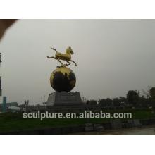 Esculturas de acero inoxidable moderna gran escultura de metal de bronce de metal para la decoración al aire libre