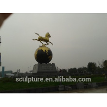 Stainless Steel Sculptures modern large metal brass horse sculpture for outdoor decoration