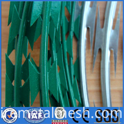 pvc razor barbed wire