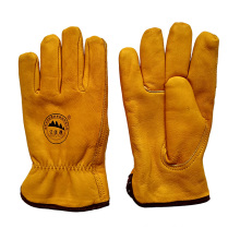 Protective Warm Leather Riggers Gloves for Miners with Full Lining