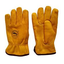 Protetor Warm couro luvas de Riggers para mineiros com forro cheio