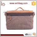 Hot Selling Vintage Customized Satchel Shoulder Bag For Men Canvas Messenger Bag