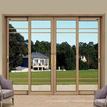 Fenêtre coulissante en alliage d'aluminium de verre de double de 5mm avec le filet de volet (FT-W126)