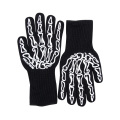 All Fingers Working Cotton Black Gloves