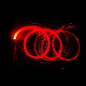 Látigo espacial de fibra óptica LED para baile