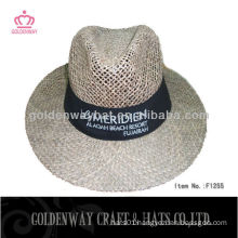 panama straw hat with customer's logo for summer