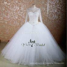 Vestidos de boda largos de Aliexpress del vestido de bola de la manga de RSW755 China Nueva llegada 2015