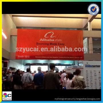 Large hanging vinyl banner, tradeshow banner, festival banner