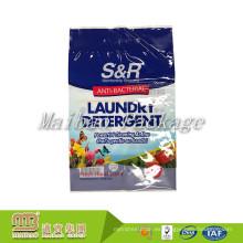 Diseño personalizado de Guangzhou que imprime el uso diario que empaqueta el bolso plástico del embalaje del escudete lateral para el polvo que se lava